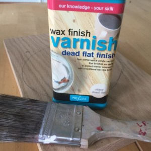 Clear dead flat wax varnish