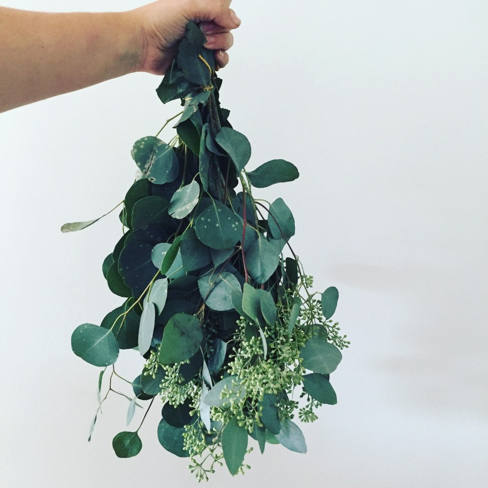 Drying eucalyptus - The Bungalow edit