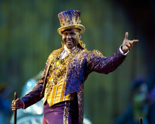 Johnathan Lee Iverson is Ringling Bros. and Barnum & Bailey Circus' youngest and first black ringmaster. (PHOTO CREDIT: EOS Marketing/Feld Entertainment)