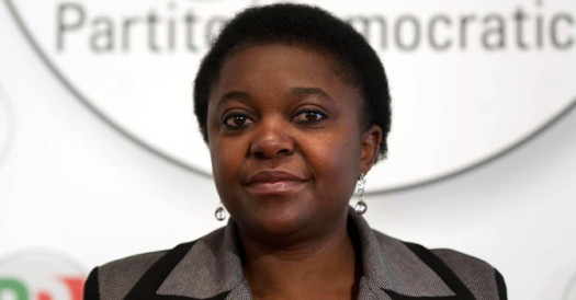 Cecile Kyenge, Italy's first black minister of integration, has been called an orangutan by a fellow lawmaker and had bananas hurled at her by racists. (Google Images)