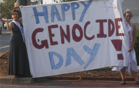 The Columbus Day holiday has been marked by protests in and outside of the United States.  (Photo Credit: Readthehook.com)