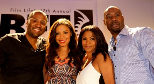 Director Malcolm D. Lee with actors Sanaa Lathan, Nia Long and Morris Chestnut at the ABFF.  (Photo Credit: Wilson Morales/The Burton Wire)