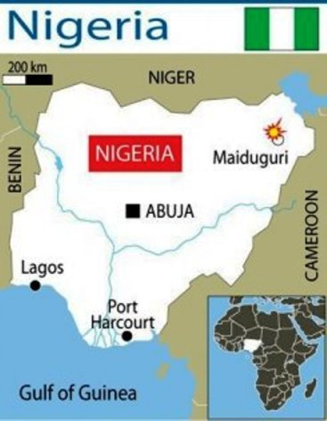 AllAfrica.com is reporting that explosions in Maiduguri in Nigeria have caused panic in the city.  (Photo Credit: Google Images)
