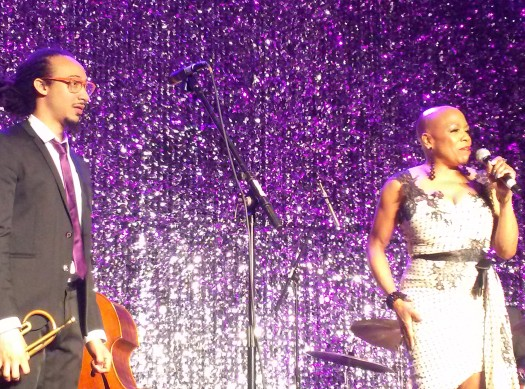 Grammy award-winning jazz singer Dee Dee Bridgewater performs with celebrated trumpeter Theo Croker at the National Black Arts Festival Gala in Atlanta, GA 2014. (Photo Credit: Christopher A. Daniel)