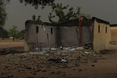 Chibok after Boko Haram bombings. (Photo: TalkofNaija.com)