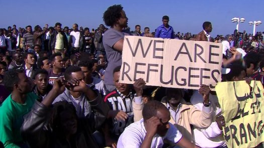 Eritreans and Sudanese march for human rights in Israel. (Photo: Google Images)