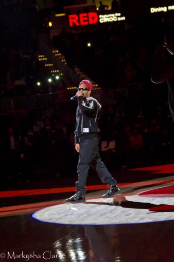 Grammy award-winning rapper T.I. performs at Atlanta Hawks season opener. (Photo Credit: Markysha Clarke)