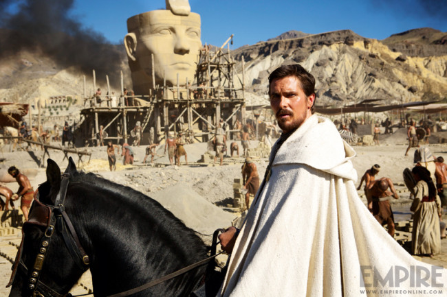 English actor Christian Bale stars as Moses in the film 'Exodus'. (Photo Credit: Empire Online)