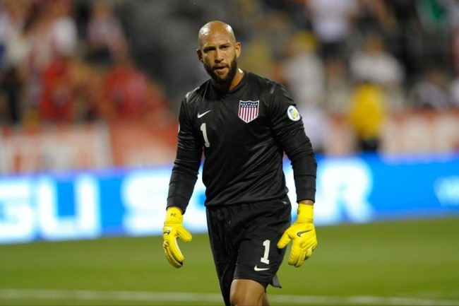 USA Soccer goalie Tim Howard.