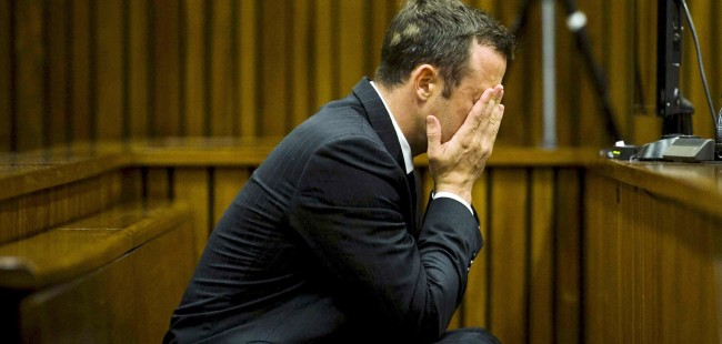 Oscar Pistorius during his trial.