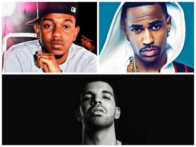 Rappers Kendrick Lamar, Big Sean and Drake.  (Photos: Google Images)