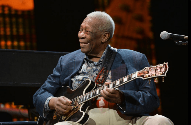 'Blues God' B.B. King dies at 89. (Photo: Twitter)