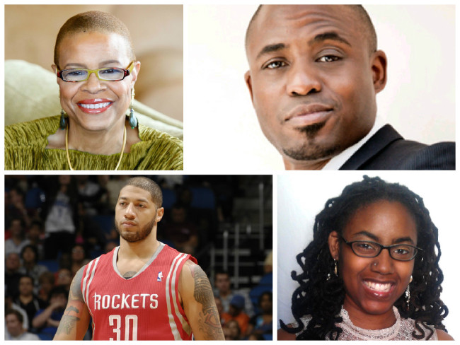 Terrie Williams (l), Wayne Brady (r), Royce White (bottom left) and Ashley Smith (bottom right) are mental health survivors and advocates. (Photos: Google Images)