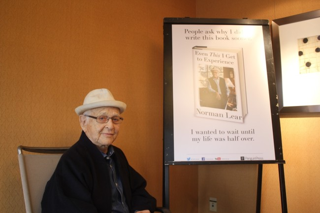 Veteran show creator and executive producer Norman Lear was in Atlanta for a tribute at Morehouse College (Photo Credit: DJ Blak Magic).