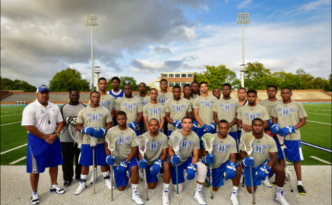 Hampton University's historic 2015-2016 men's lacrosse team. (Photo: Logan Whitton/laxmagazine)