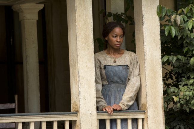 "Actress/singer Anika Noni Rose stars as ""Kizzy"" in episode three of the revamp of record-breaking miniseries ""Roots"" (Photo Credit: Steve Dietl/The HISTORY Channel)."