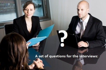 A set of questions for the interviews