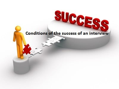 Conditions of the success of an interview