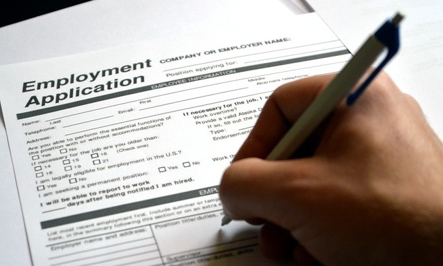 Type of employment applications