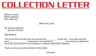 Factors to be considered in writing Collection Letter – Collection Letter