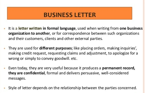 Meaning Of Letter | Meaning Of Commercial Letter | Business Letter