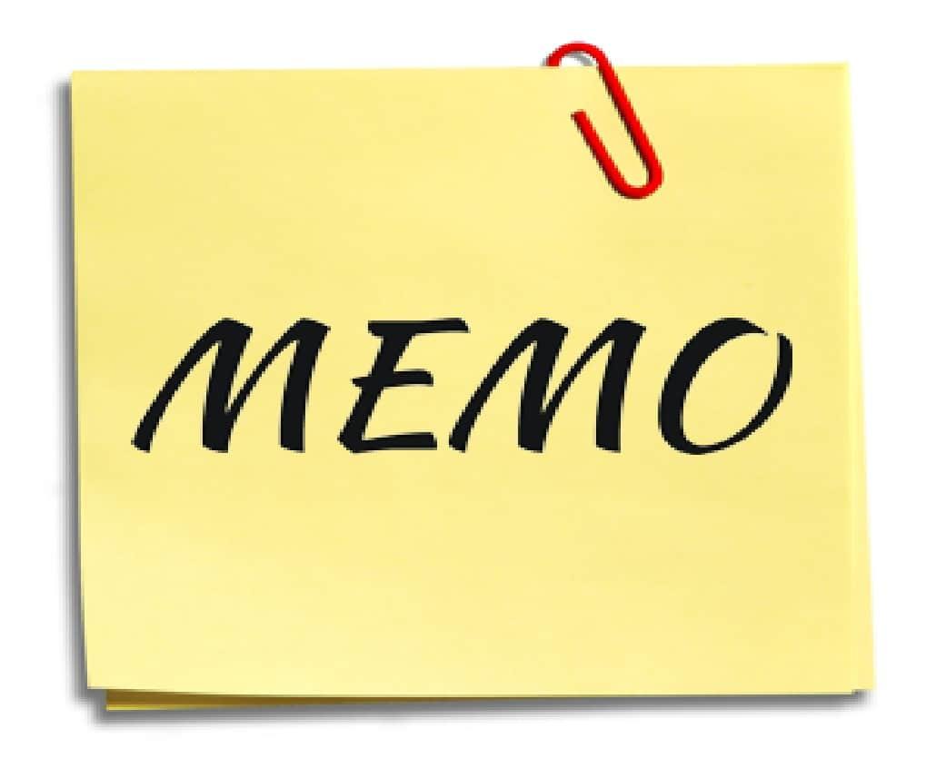 Importance of Memo