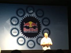 Andy Walshe of RedBull on stage at WIREDBizCon