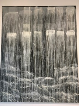Pat Steir - Monk Ayko Meditating Waterfall - 1991
