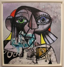 George Condo - Listening and Talking - 2018