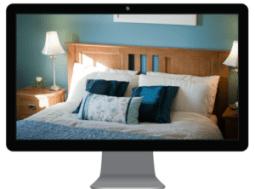 holiday home website bedroom