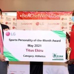 LG Awards Titus Ekiru As Sports Personality For May