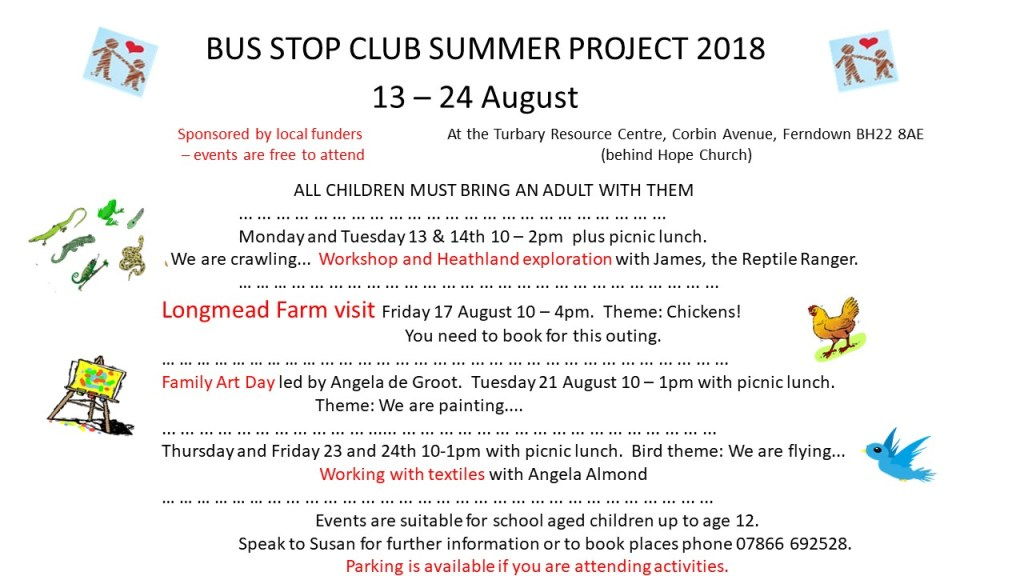 Summer activities at the Bus Top Club 2018