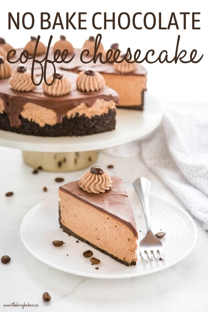 No Bake Chocolate Coffee Cheesecake Recipe