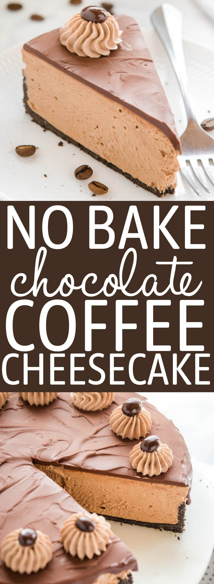 No Bake Chocolate Coffee Cheesecake Recipe Pinterest