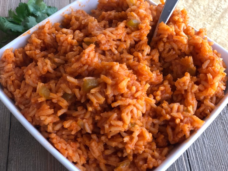a dish of Easy Mexican Rice