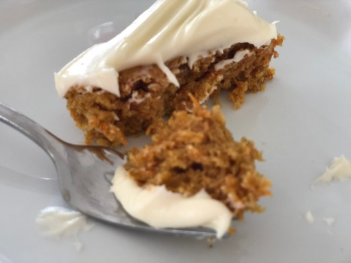 Simple Carrot Cake - the perfect bite