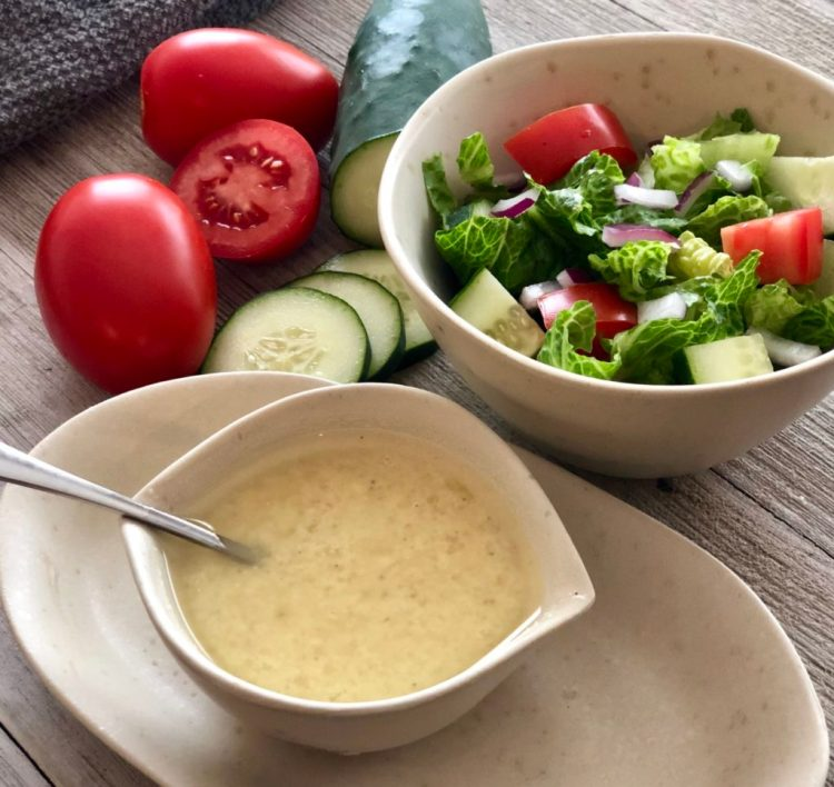Parmesan Vinaigrette is the perfect light and fresh dressing