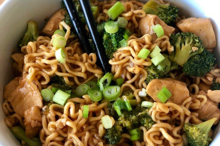 fast and easy chicken broccoli ramen stir fry