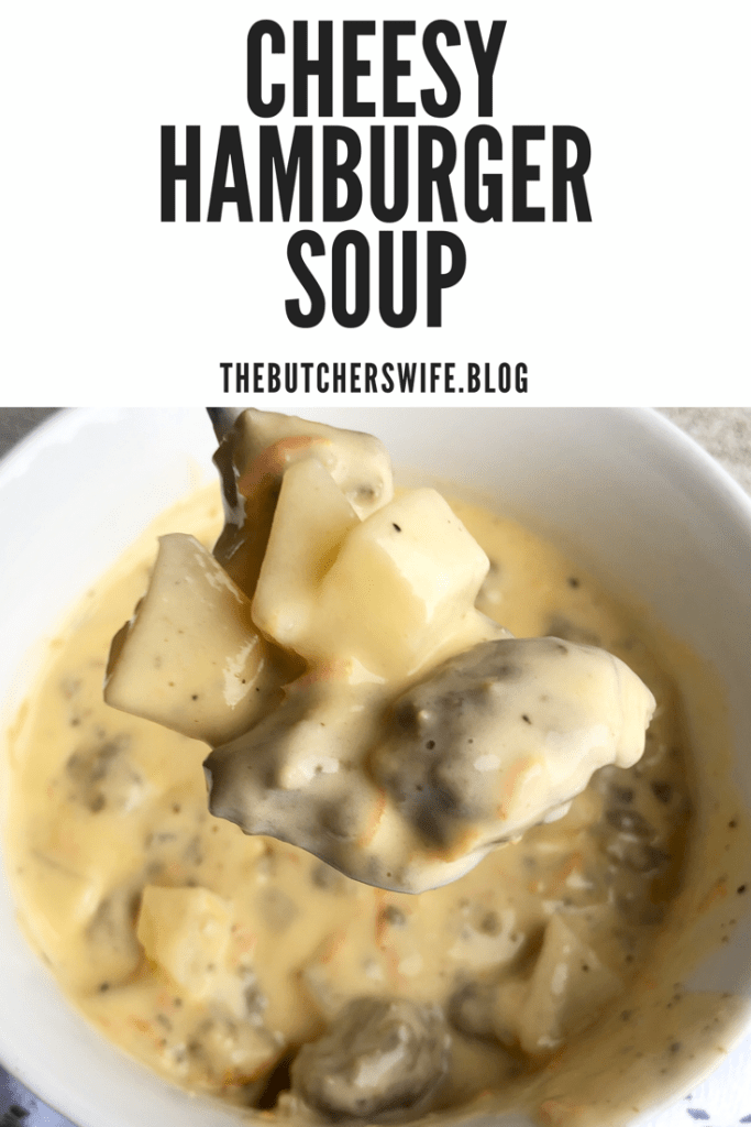 Cheesy Hamburger Soup