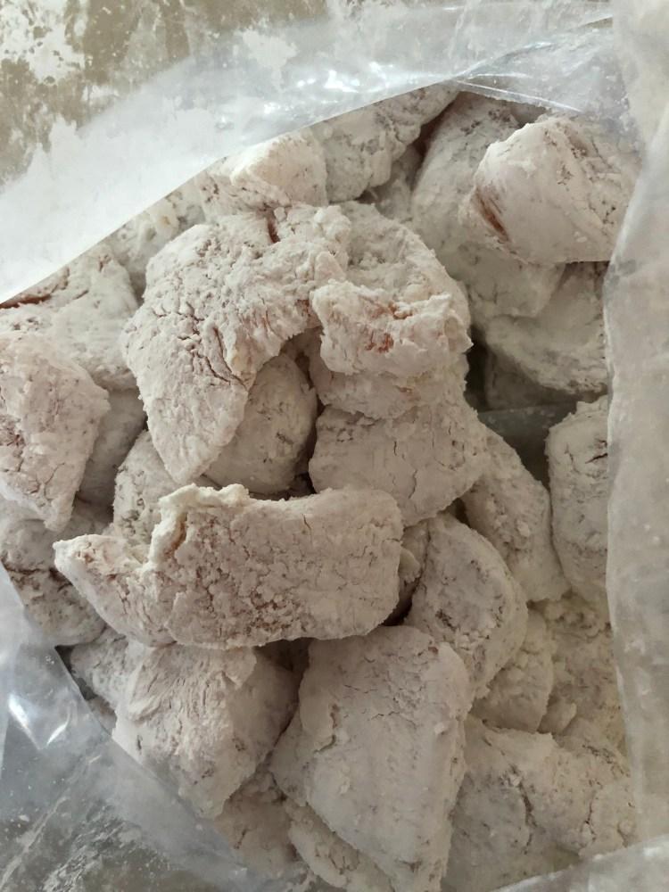 Sweet and Sour Chicken- chicken and cornstarch