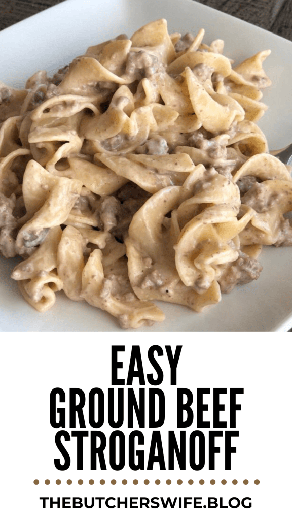 Fast and Easy Ground Beef Stroganoff  MAKE THIS!  FAST,EASY AND KID APPROVED!!!