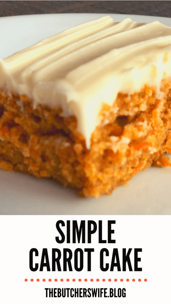 Simple easy carrot cake