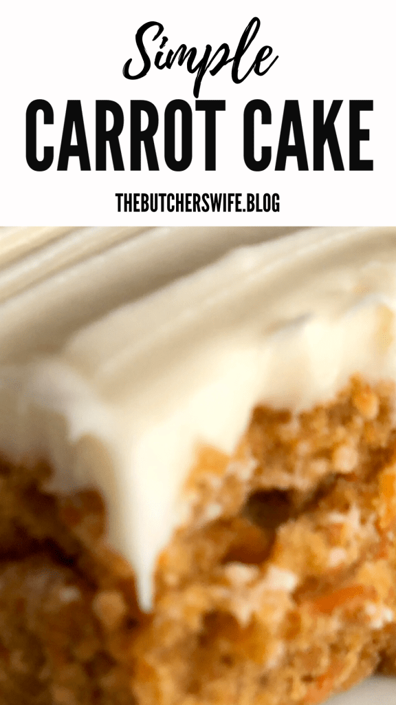 Simple Carrot Cake- the best easy recipe
