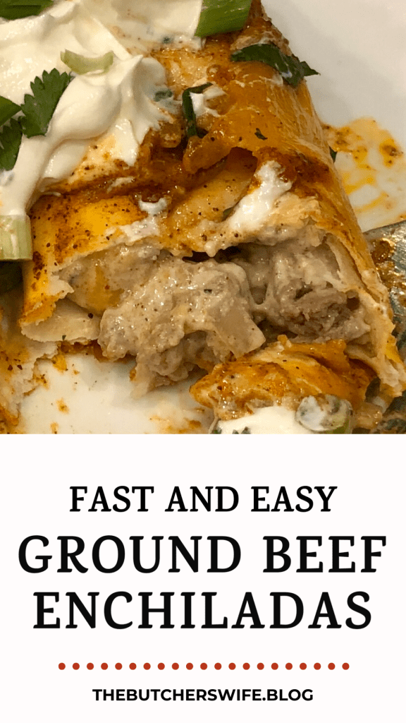 Add this to your weekly dinner menu! Fast and Easy Ground Beef Enchiladas