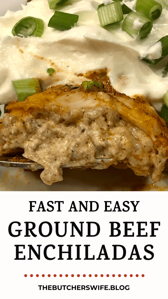 Fast and Easy Ground Beef Enchiladas- family favorite, easy to make