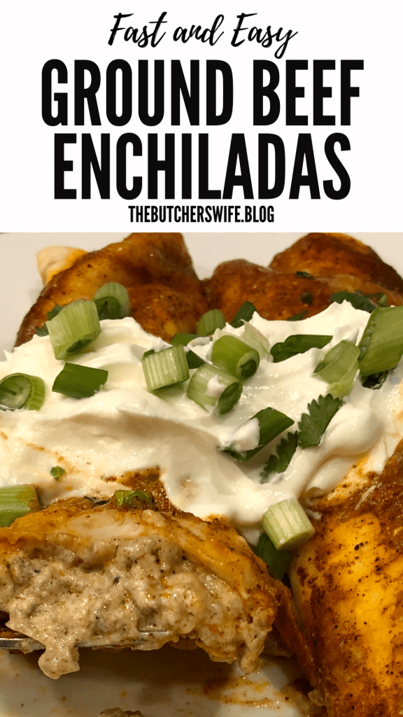 Fast and Easy Ground Beef Enchiladas - this recipe will become a favorite