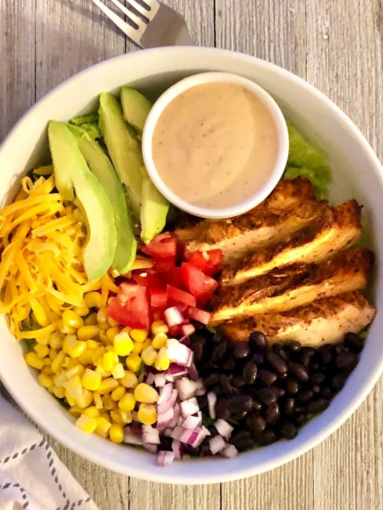 Tex-Mex BBQ Chicken Salad | The Butcher's Wife