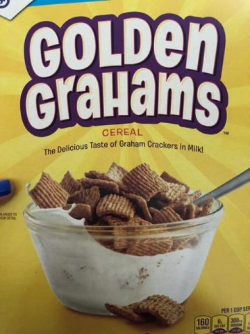 Golden Grahams cereal is used in S'mores Buddies for the graham cracker taste