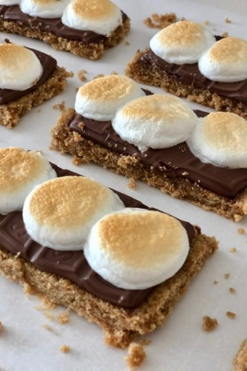 Sheet Pan S'mores perfect easy s'mores treat - graham cracker crust with chocolate and marshmallow baked in a sheet pan