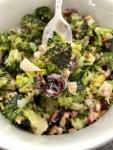 Easy to make Broccoli Salad with Bacon